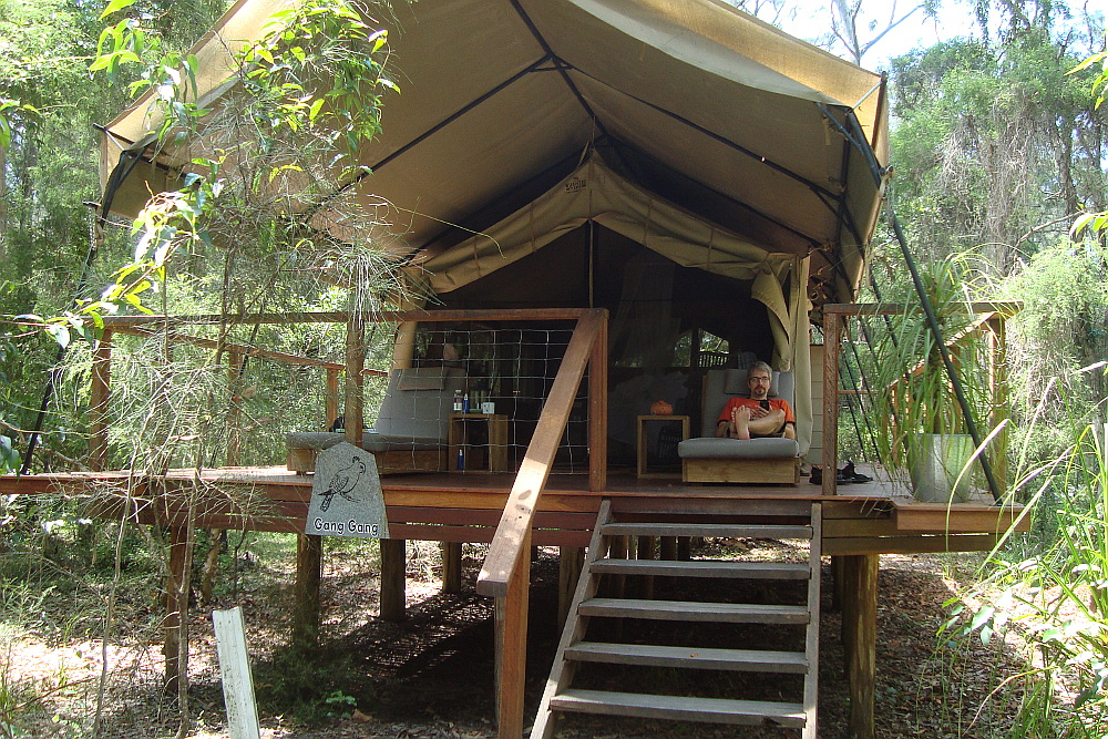 Our luxurious tent, Paperbark Camp, Australia