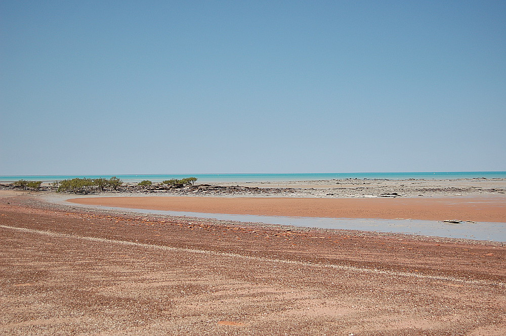 Looking for dinosaur footprint, Broome, Australia
