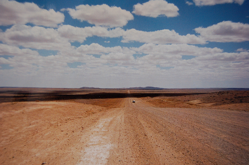 Driving on the outback, Australia