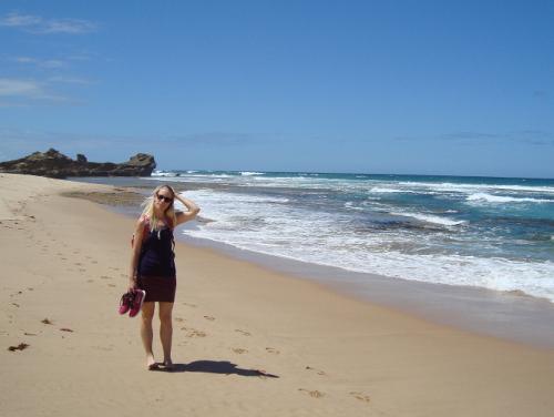 Walking on the beach, Morning Peninsula, Australia